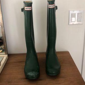 Hunter Original Tall Rainboots Size 9